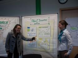Die Organisatoren des Innovationsworkshop Nicole Hess und Joana Förtner