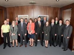 Die Stipendiaten mit Jury-Mitgliedern