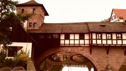 Das Haus der Henkersfamilie über der Pegnitz.