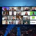 Ein Ausschnitt aus einer Videokonferenz mit den Studierenden